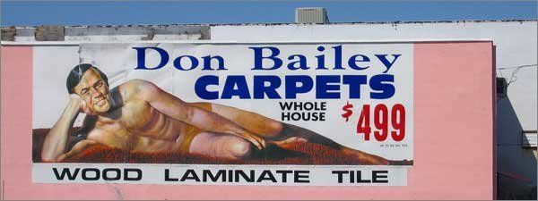 """Miami's own """"naked carpet guy"""" made like Burt Reynolds to sell furry flooring -- and became a local billboard legend."""
