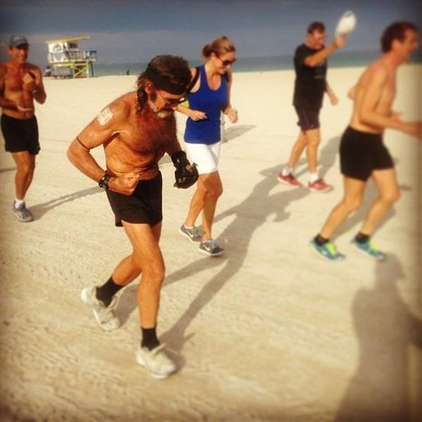 """Where you've seen him: running 8 miles on Miami Beach at dusk every single day since January 1, 1975 -- a <a href=""""http://www"""