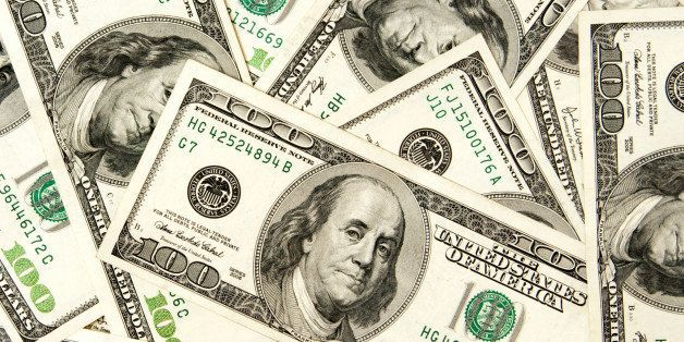 heap of dollars  money...