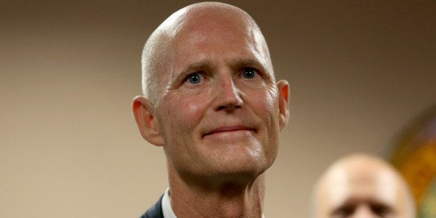 MIAMI, FL - JANUARY 14:  Florida Governor Rick Scott as he introduces Carlos Lopez-Cantera as his new lieutenant governor on