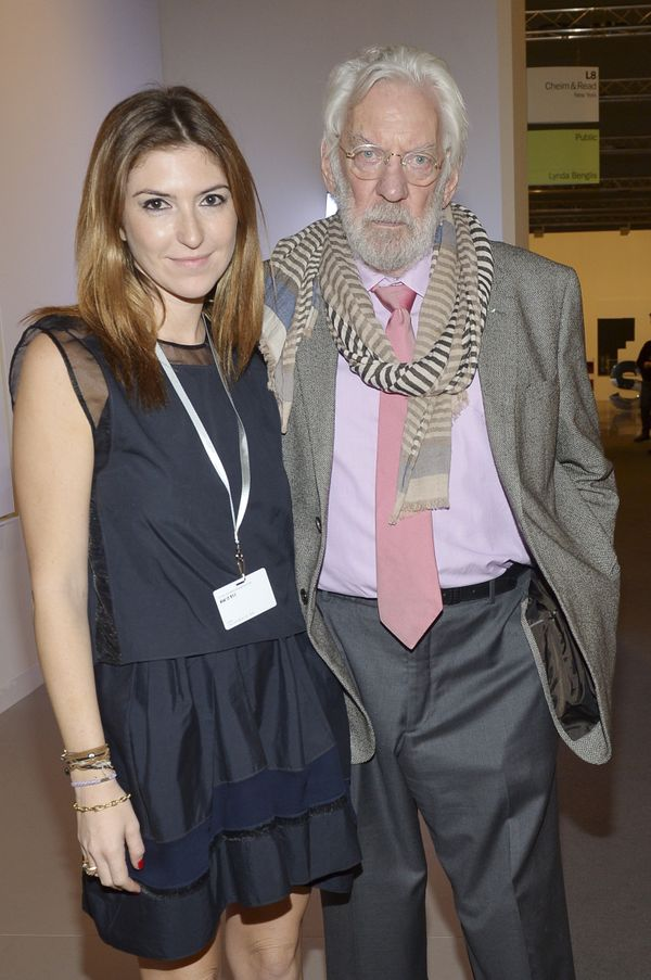 Donald Sutherland hit up the Art Basel Miami Beach VIP Preview.