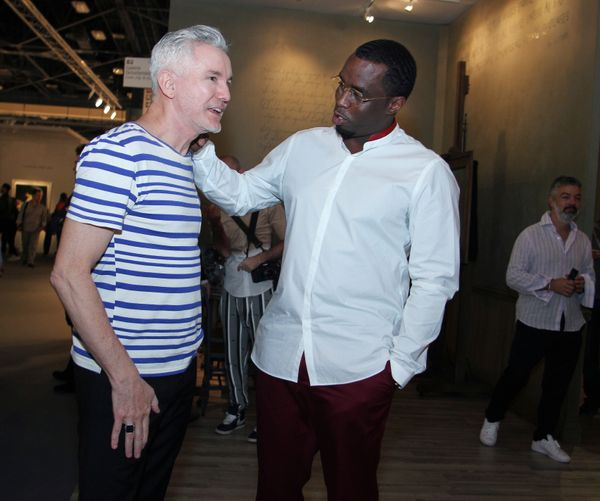 Director Baz Luhrmann chatted with P. Diddy at Art Basel Miami Beach.