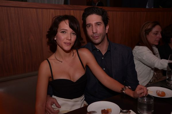David Schwimmer and wife Zoe Buckman hit up at Art Basel party at the Edition hotel in Miami Beach.