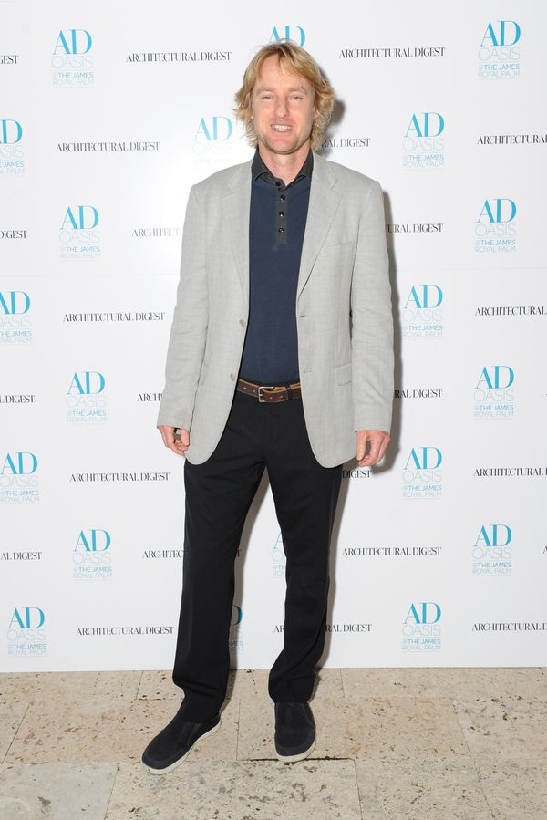 Owen Wilson strutted his stuff at a preview for Architectural Digest's Thom Filicia-designed AD Oasis at the James Royal Palm