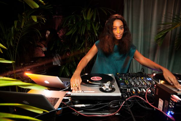 Solange Knowles spun records at the Out of Order Party at Paul's Baby Grand Surf Lodge at the Deauville Beach Resort.