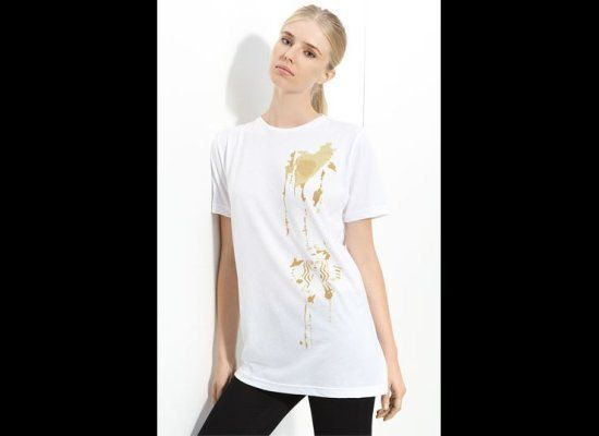 Starbucks teamed up with CFDA designers Alexander Wang, Billy Reid and Sophie Theallet. They each designed a special tee shir