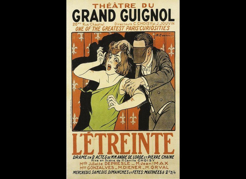 A poster from the original Grand Guignol.