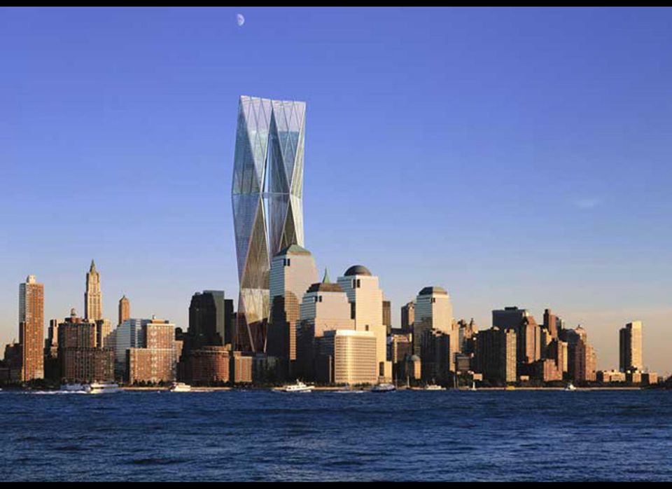 NEW YORK- DECEMBER 18:  The proposed design by architects Foster and Partners for the rebuilding of New York's World Trade Ce