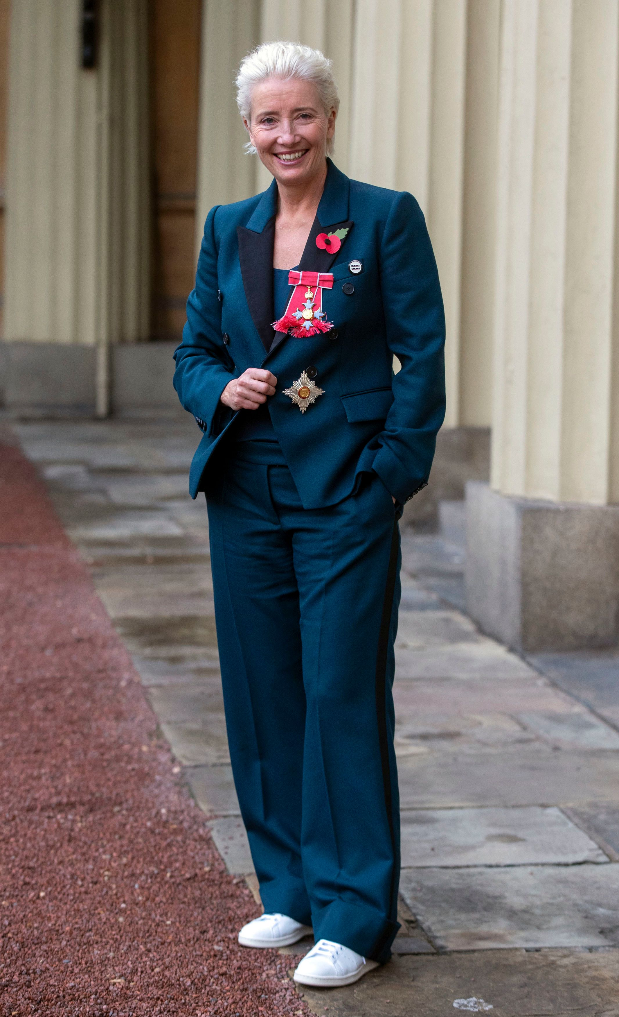 Emma Thompson Collects Damehood In Equal Pay Badge And Brilliant White