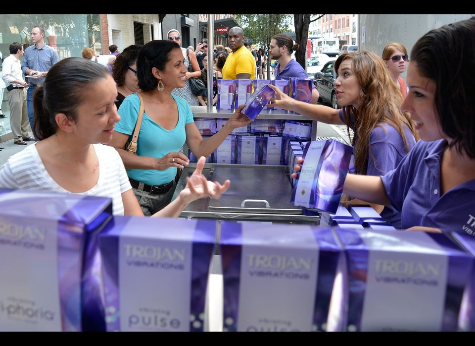 NEW YORK, NY - AUGUST 09:  Trojan Vibrations Pleasure Carts turns up the heat index and satisfy pleasure seekers with 10,000