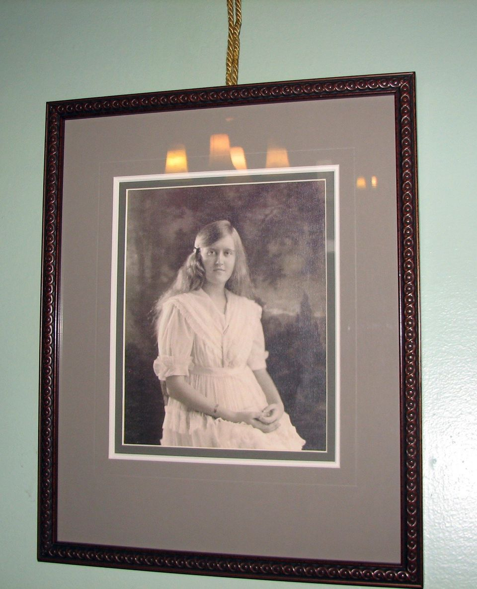 In this Dec. 24, 2011 photo, a portrait of heiress Huguette Clark hangs in one of the bedrooms of the Copper King Mansion in