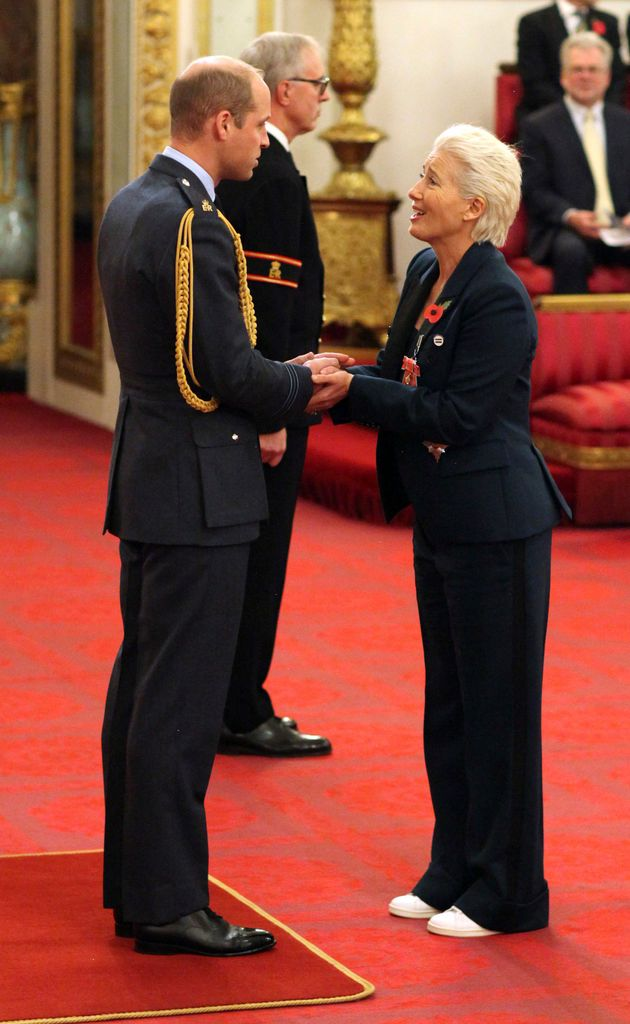 Emma Thompson receives Britain's highest honor at Buckingham Palace on