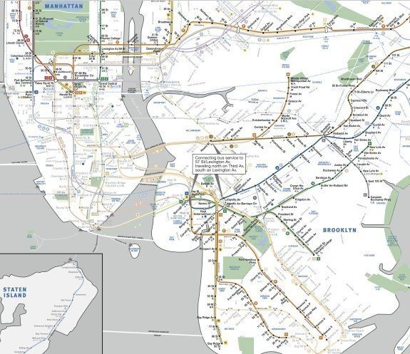 New York Subway Map Real Border.New York Subway Map Post Sandy Limited Service Plans Revealed
