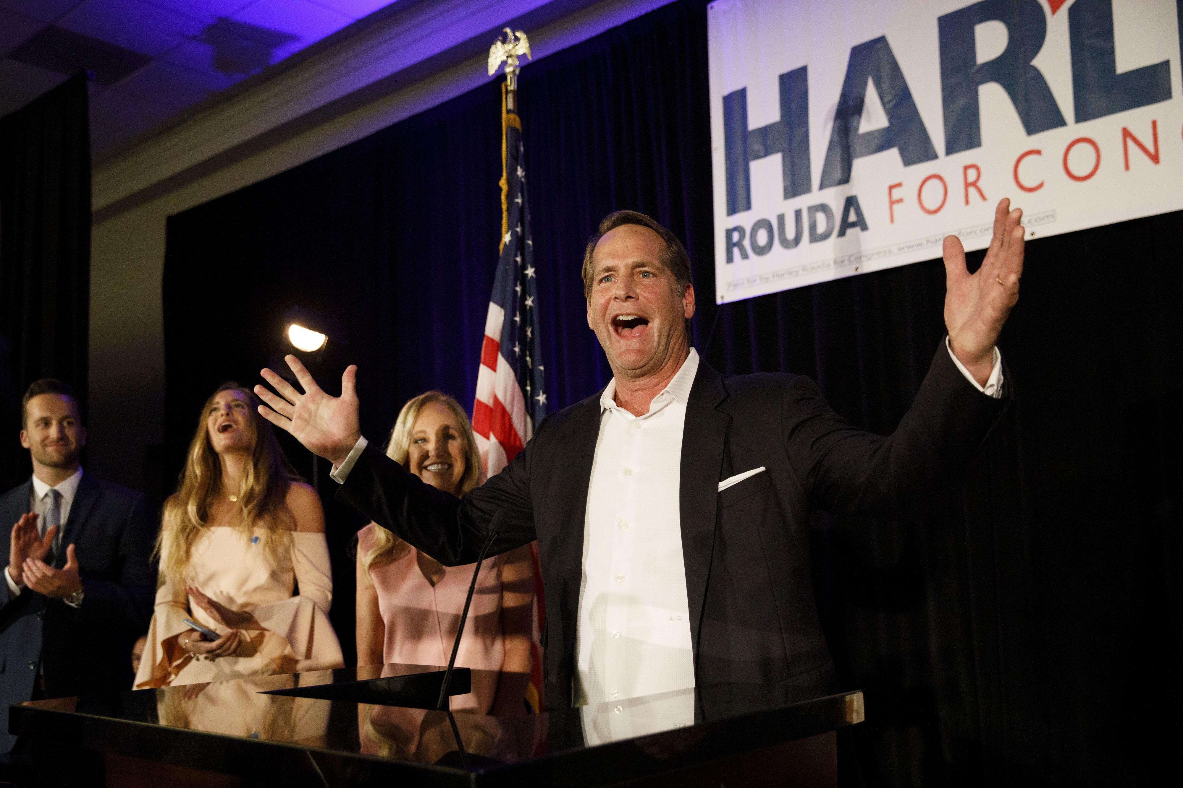 Democratic candidate Harley Rouda defeated Republican Rep. Dana Rohrabacher in California's 48th congressional district