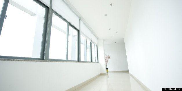 empty long corridor in the...