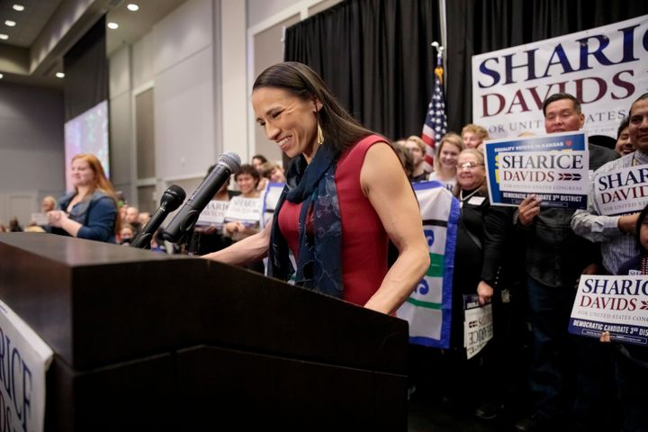 Sharice Davids defeated incumbent Republican Kevin Yoder to win Kansas' 3rd Congressional District. She is one of two Native