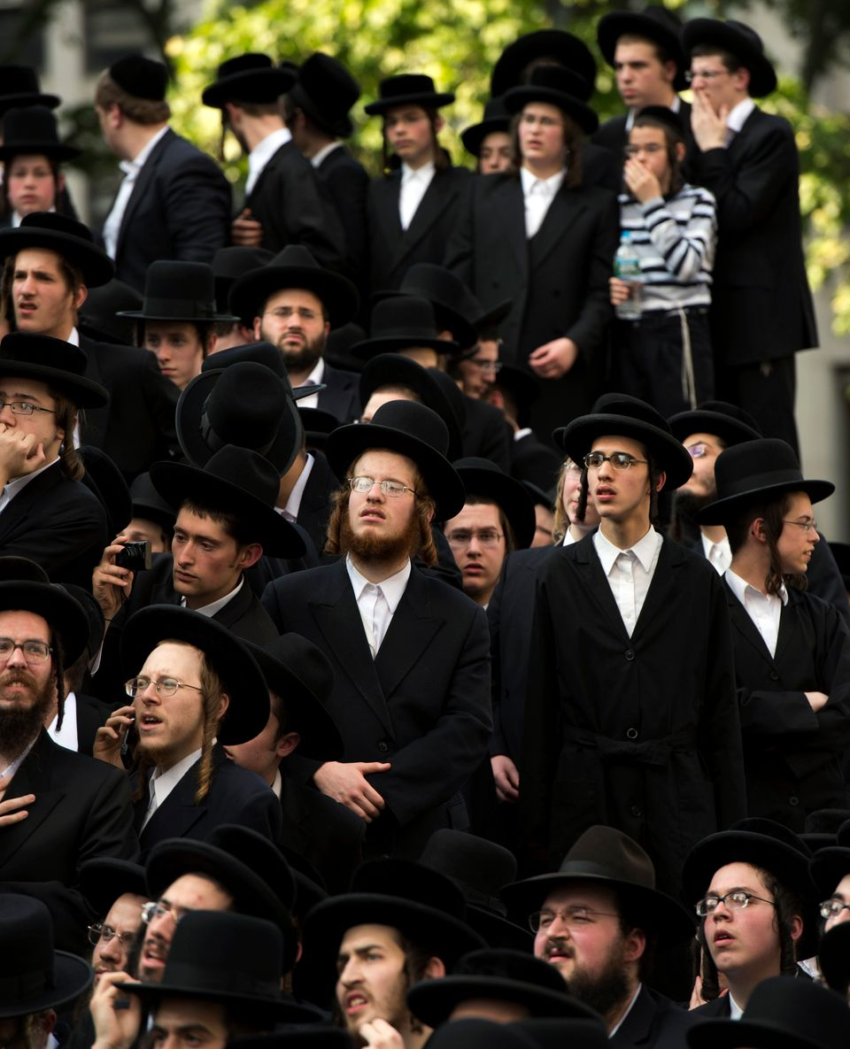 Members of the Alliance of American Jews protest against the Israeli Draft June 9, 2013 in New York. Thousands gathered in Fe