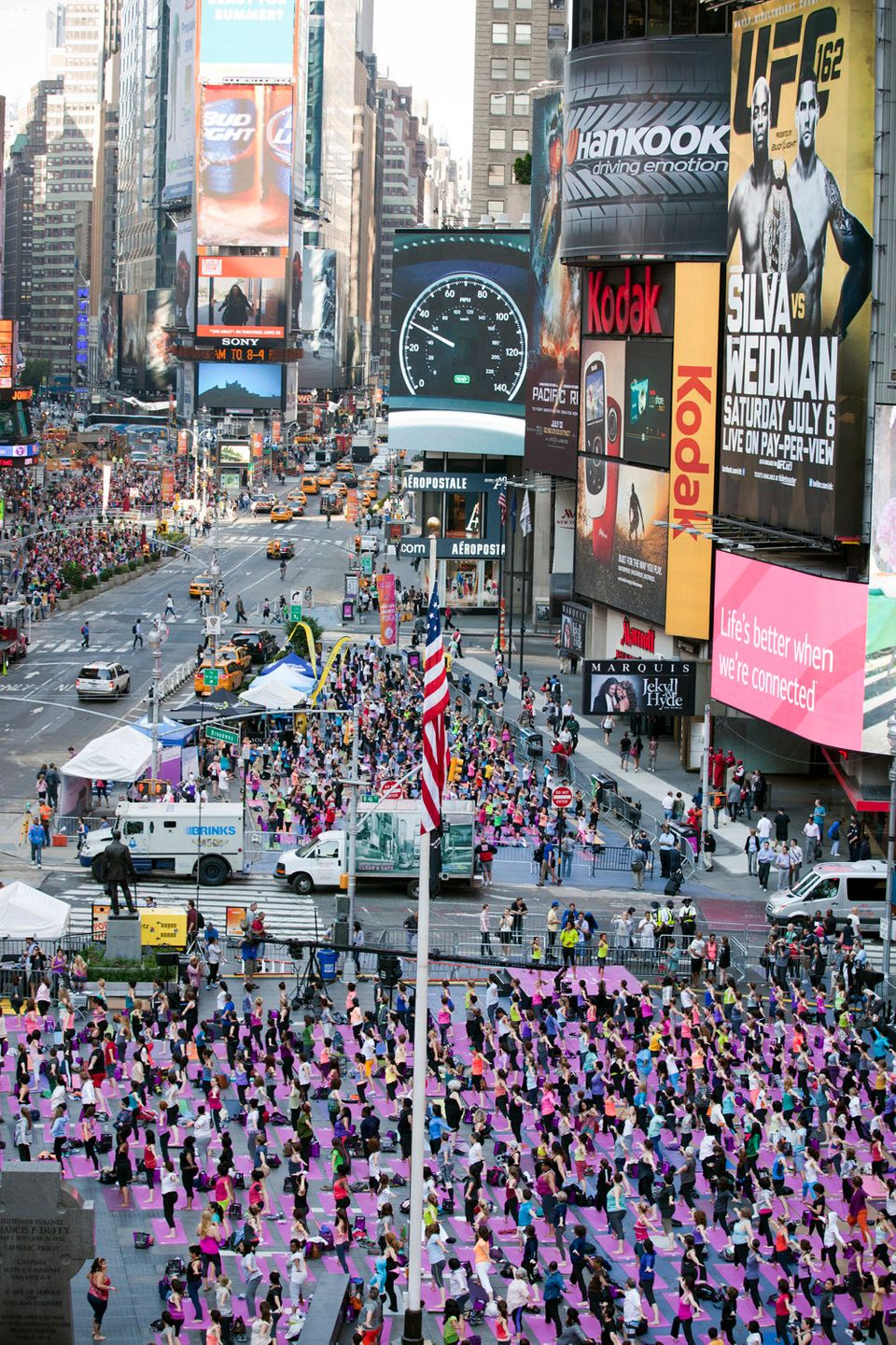 More than 15,000 people are expected to practice yoga during the 11th Solstice in Times Square event on June 21st