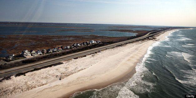 Wantagh Ny April 15 An Aerial View Of The Area Near Gilgo Beach
