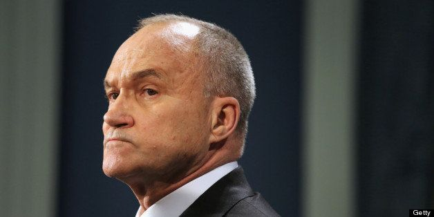 NEW YORK, NY - APRIL 16:  New York City Police Commissioner Ray Kelly addresses the media at City Hall on April 16, 2013 in N