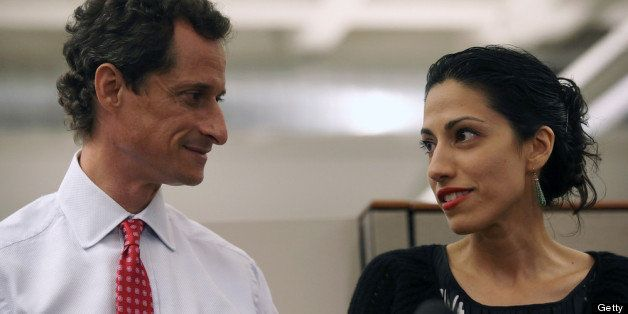 NEW YORK, NY - JULY 23:  Huma Abedin, wife of Anthony Weiner, a leading candidate for New York City mayor, speaks during a pr