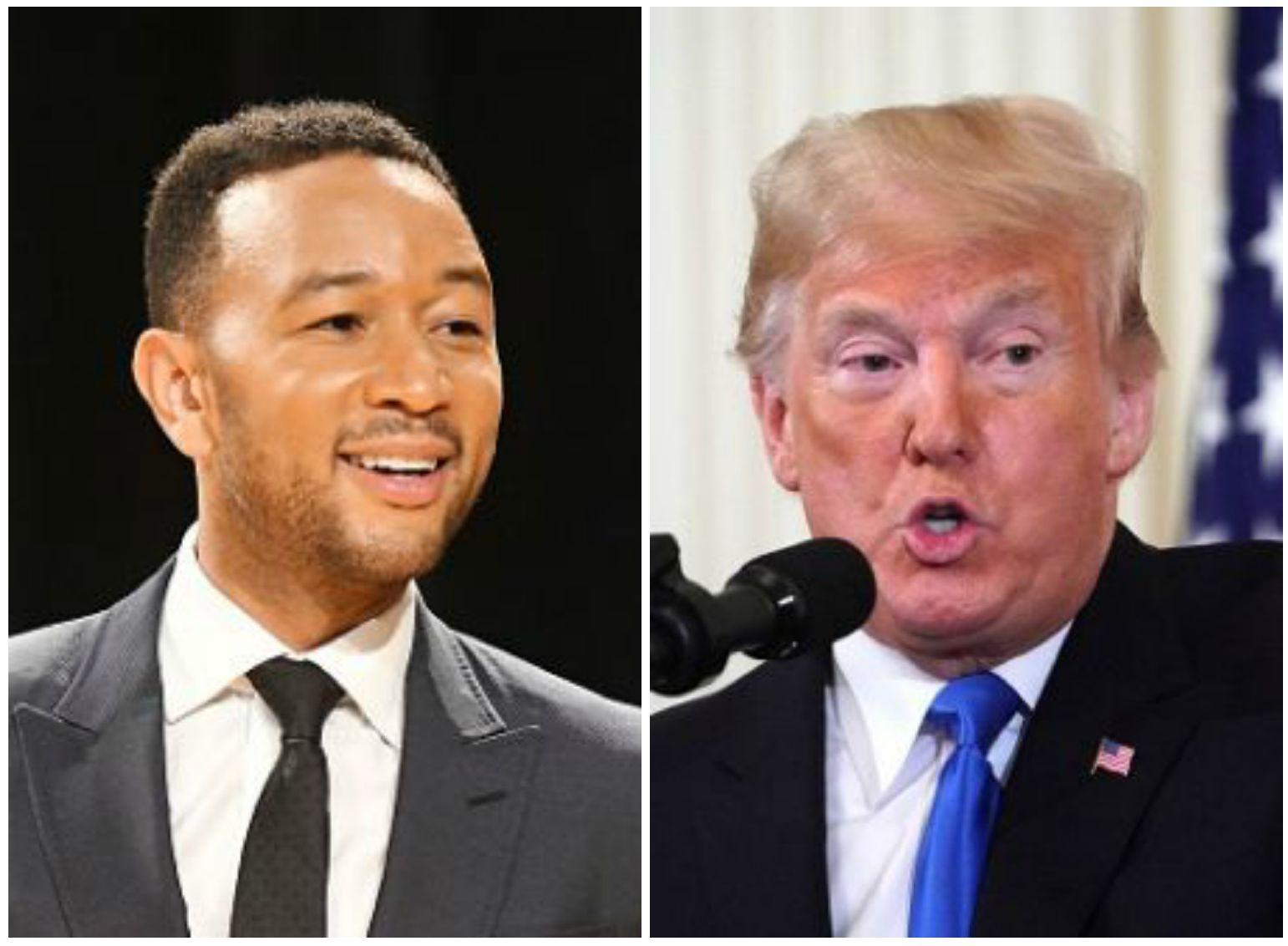 John Legend Slams Trump's Behavior At Press Conference: 'F**king Embarrassment'
