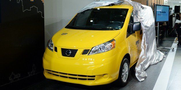 Nissan's NV200, 'New York taxi of tomorrow' is unveiled during its press preview in Tokyo on October 9, 2013. Nissan displays