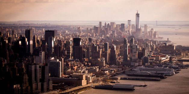 NEW YORK, NY - FEBRUARY: The skyline of New York seen from the air, on February 17, 2013, in New York City.  (Photo by Timur