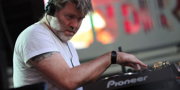 NEW YORK, NY - OCTOBER 12: DJ James Murphy  performs during CBGB Music & Film Festival 2013 at Times Square on October 12, 20