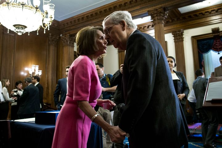 House Minority Leader Nancy Pelosi (D-Calif.) and Senate Majority Leader Mitch McConnell (R-Ky.)