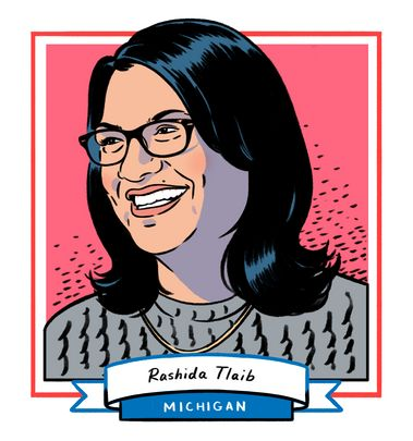 Rashida Tlaib won her race in Michigan's 13th Congressional District, facing no Republican challengers. The former Mich...