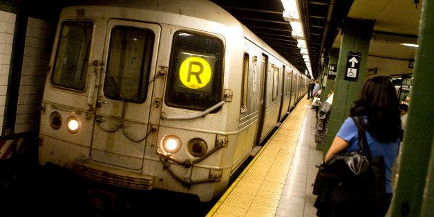 UNITED STATES - MAY 20:  An 'R' line subway train arrives to the Union Square stop in New York, U.S., on Wednesday, May 20, 2
