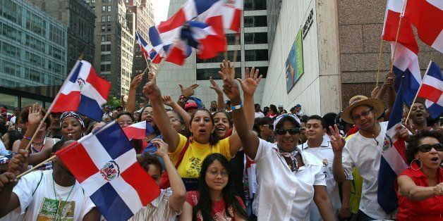 NBC NEWS -- 24th Annual New York Dominican Parade & Dominican Week -- Pictured: Spectators of the Dominican Day Parade and fi