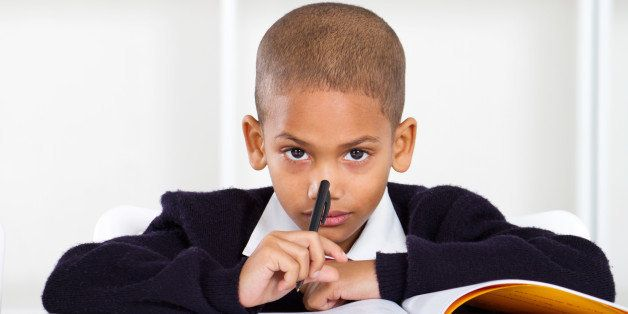 thoughtful primary student