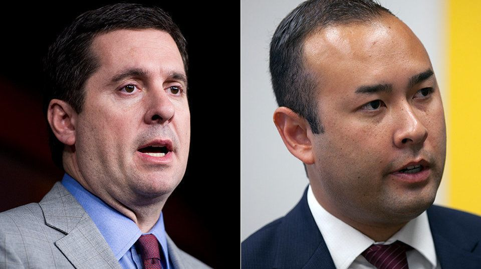 California GOP Rep. Devin Nunes, a close Trump ally, survived a re-election challenge from Democrat Andrew Janz (right).