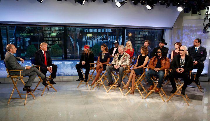 Matt Lauer, Donald Trump, Bret Michaels, Claudia Jordan, Dennis Rodman, Gary Busey, Brande Roderick, Lisa Rinna, Stephen Bald