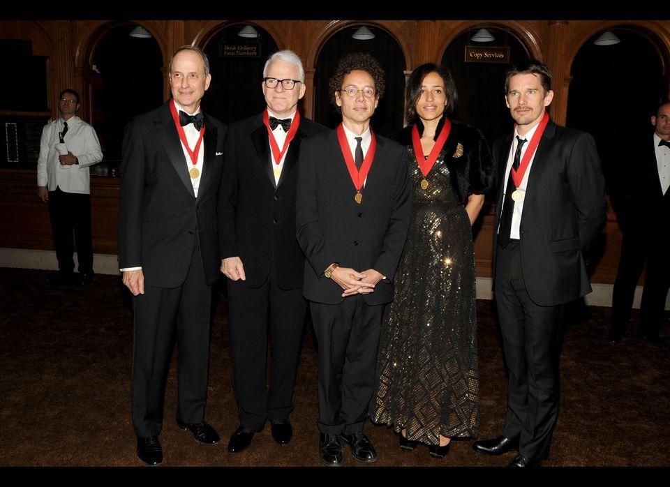 2010 Honorees Paul LeClerc, Steve Martin, Malcolm Gladwell, Zadie Smith, Ethan Hawke