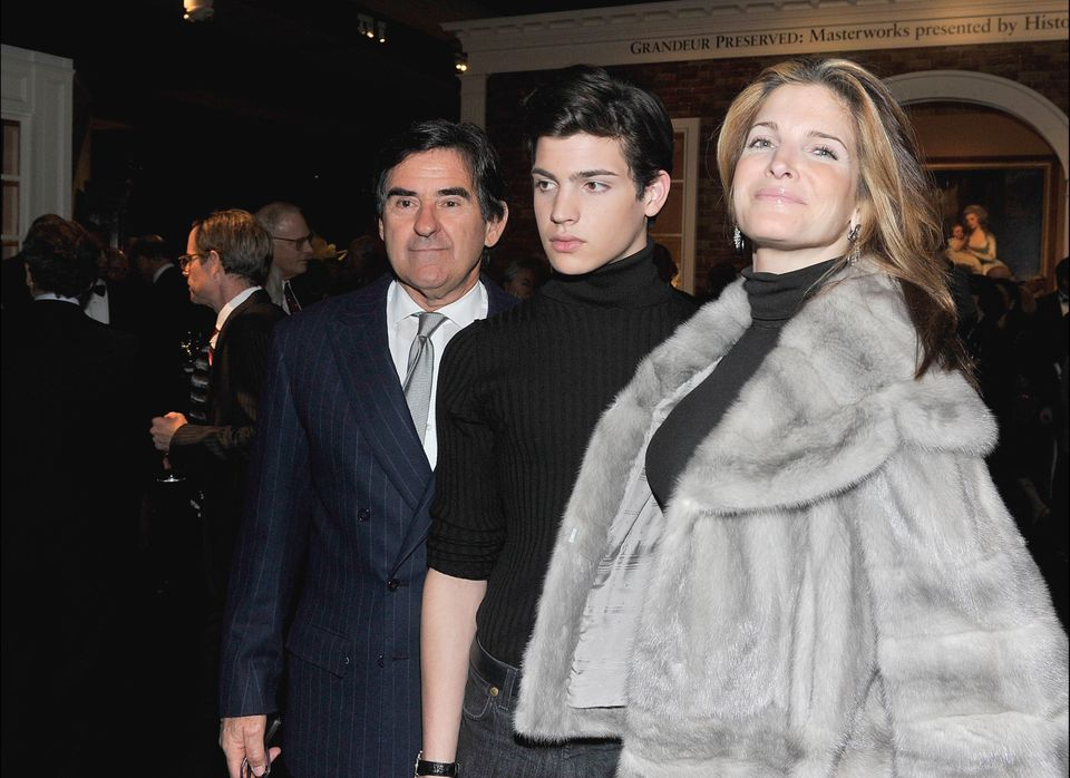 NEW YORK, NY - JANUARY 20:  (L-R) Peter Brant, Peter Brant II and Stephanie Seymour attend the opening night of the 57th annu