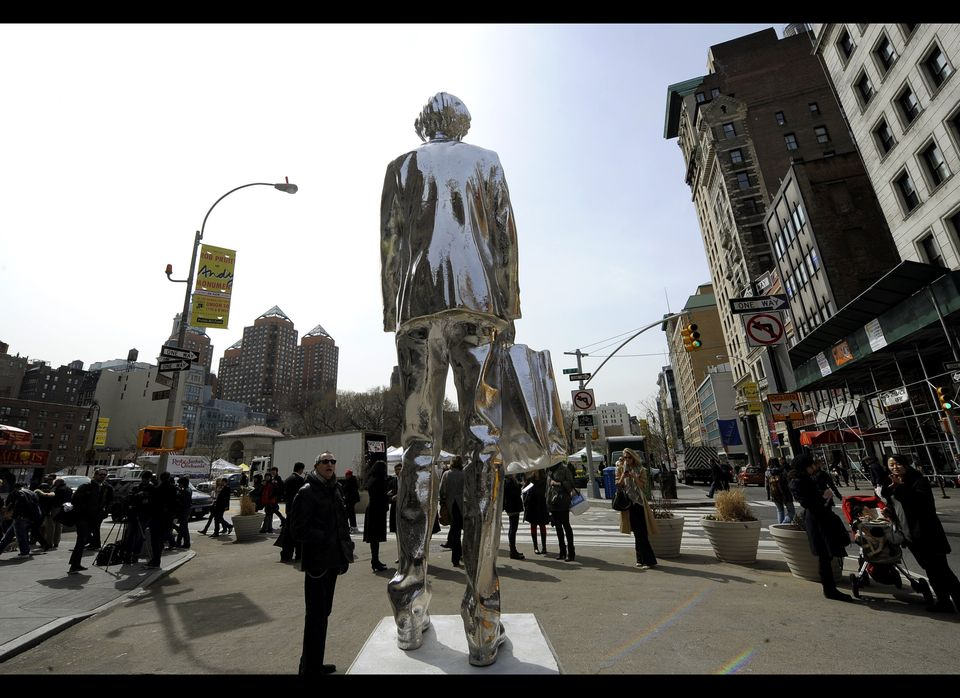 The Andy Monument, by artist Rob Pruitt, his homage to Andy Warholthe father of Pop Art and one of New Yorks enduring cultura