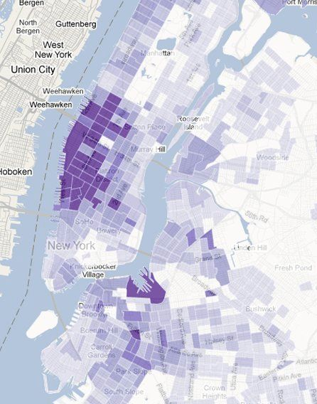 Show Map Quebec Canada To Nyc Census Based NYC Map Shows Neighborhoods With Most Same Sex