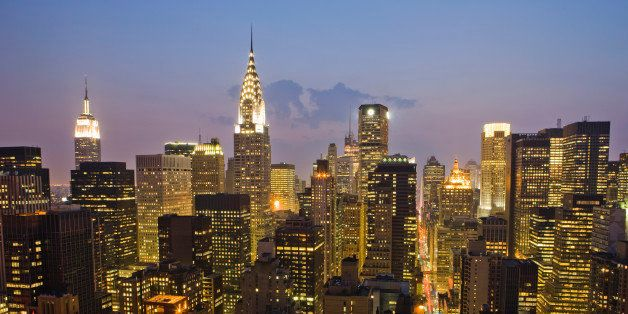 Chrysler Building and Empire State Building at night