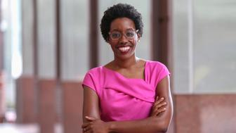 In this Aug. 25, 2018, photo, rookie Democratic candidate Lauren Underwood poses for a photo in Chicago. If elected to the U.S. House, Underwood would be the first woman and first minority to represent the predominantly white district once represented by GOP House Speaker Dennis Hastert. (AP Photo/Teresa Crawford)