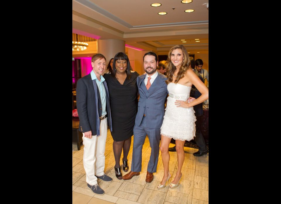 VIP Pride Party Founder Mark Rhoades, Chelsea Lately comedians Loni Love and Heather McDonald with PG&E's Brandon Hernandez