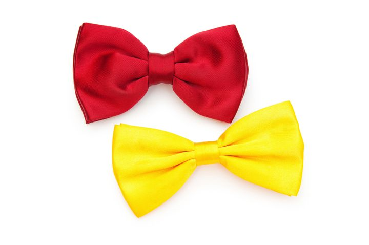 red bow tie isolated on the...