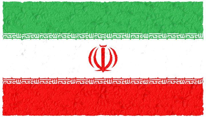 crumple grunge flag of iran