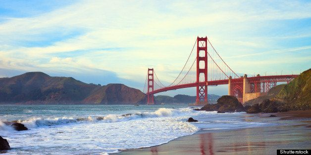 golden gate bridge panorama...