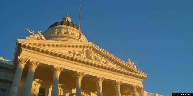 california capitol building in...