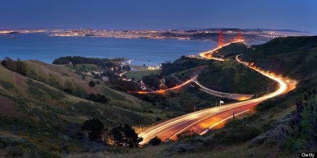 Marin Headlands, SausalitoAll the different car trail lights in this shot generated some good dynamics.