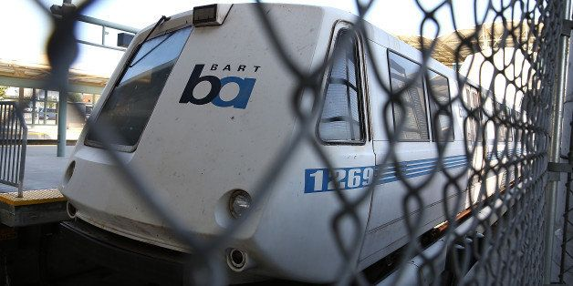 MILLBRAE, CA - JULY 03:  A Bay Area Rapid Transit (BART) train sits idle at the Millbrae station on July 3, 2013 in Millbrae,