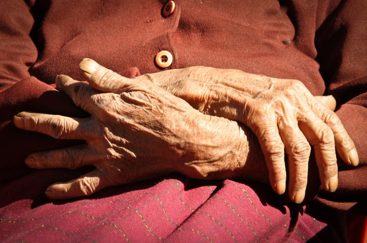 Hands of a hundred year old Naga lady.